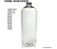 1000ML Valgfri Basevæske - Uden Nikotin