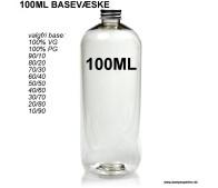 100ML Valgfri Basevæske - Uden Nikotin